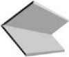 Плинтус потолочный пластиковый ПластикПроф 3000*10 мм